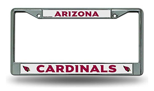 - Rico Industries NFL Arizona Cardinals Standard Chrome License Plate Frame