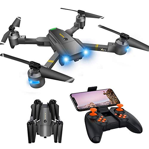 Drone with Camera - Drones with Camera for Kids, WiFi FPV Drone w/ 720P HD Camera/Voice & APP Control/Trajectory Flight/Altitude Hold/Gravity Sensor, VR Game, RC Drone for Adults & Kids