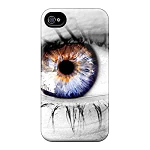 New QUXmxEr4521CbuYr Hd Eye Skin Case Cover Shatterproof Case For Iphone 4/4s by icecream design