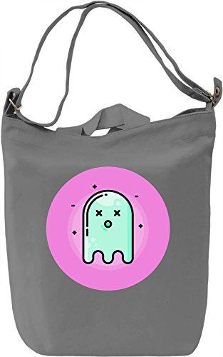 Cute Ghost Borsa Giornaliera Canvas Canvas Day Bag| 100% Premium Cotton Canvas| DTG Printing|