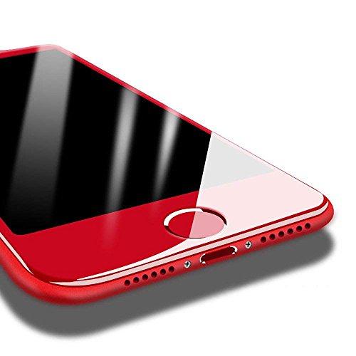 マーク苦しめる天使PZX iPhone7 ガラスフィルム 赤 レッド全面保護 アンチグレア 3D曲面 飛散防止 指紋防止 99%透過率 9H強度 0.15mm 気泡防止 (iPhone7)