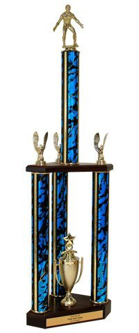 Wrestling Triple Column Trophy - 31'' by QuickTrophy
