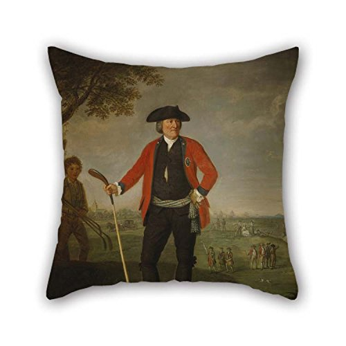 Oil Painting David Allan - William Inglis, C 1712 - 1792. Surgeon And Captain Of The Honourable Company Of Edinburgh Golfers Throw Pillow Covers 20 X 20 Inches / 50 By 50 Cm For Bench Home Boys Of -