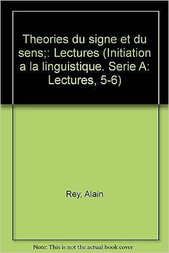 Livres Théories du signe et du sens pdf ebook