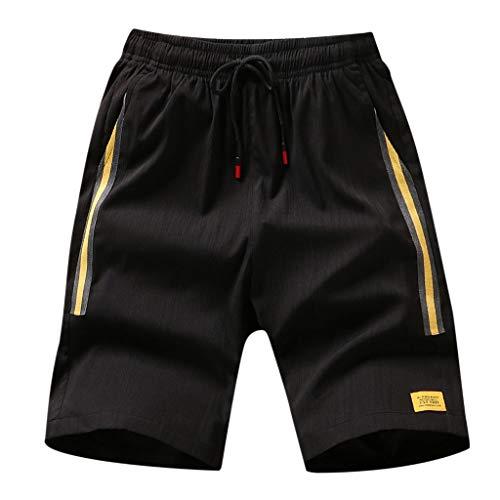 Giulot Men's Mesh Woven Graphic Shorts Basketball/Soccer/Gym/Hiking Drawstring Shorts Classic Quick-Dry Active Pants Yellow ()