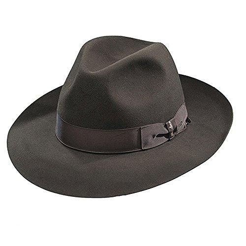 Borsalino Ernesto - Beaver Fur Felt Hat - Brown-Darkbrown-