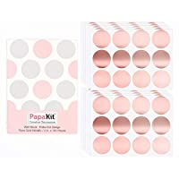 PapaKit Large Round Polka Dot Confetti Wall Decal Baby Nursery Child Kid Boy Girl Bedroom Home Decor | Creative Art Design Pattern | Safe Removable Adhesive (Rose Gold Metallic, 2 Inches x 120 Pieces)