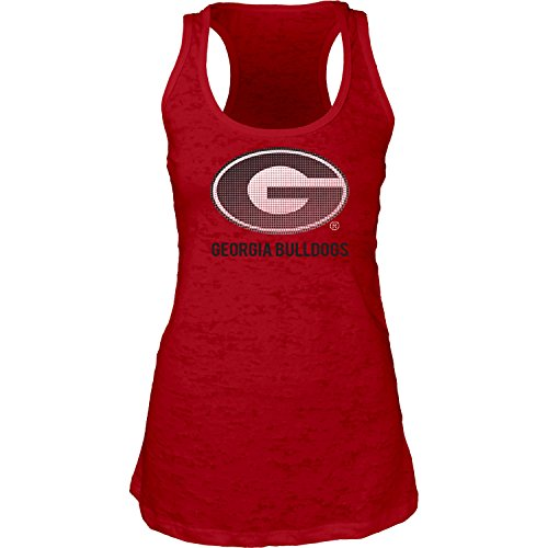 Blue 84 NCAA Georgia Bulldogs Women's Burnout Tank Top, Red, Medium