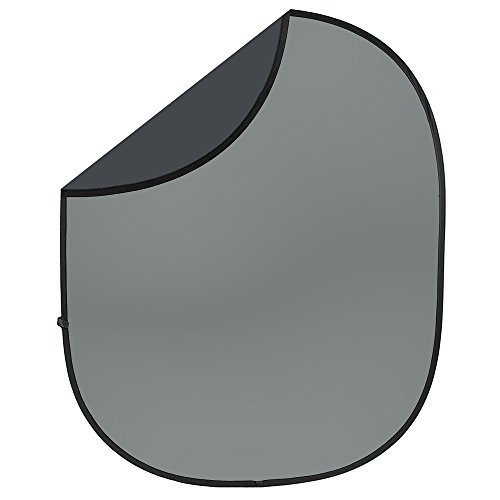- Charcoal/Medium Gray Collapsible & Reversible Photo Backdrop from Backdrop Express - 5ft x 6ft