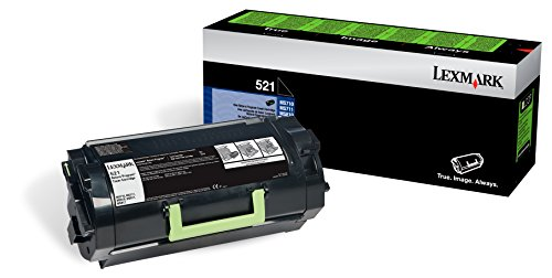 Unison 521 Black 6000 Page Yield Toner Cartridge for Lexmark