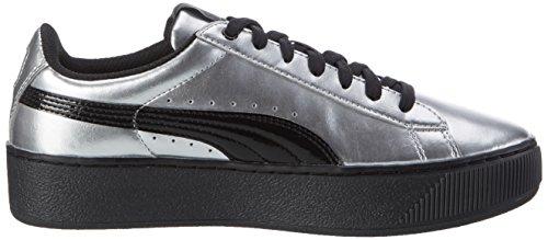 Silver Metallic puma Black Puma Donna Vikky Puma Platform Grigio 02 Sneaker pq0CHw