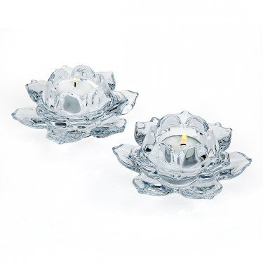 Crystals Flower Candle Holder - 1