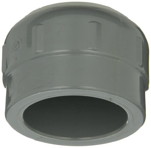 Pvc Schedule 80 Cap - GF Piping Systems CPVC Pipe Fitting, Cap, Schedule 80, Gray, 1-1/2