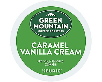 (Green Mountain Coffee Roasters Caramel Vanilla Cream, Single Serve Coffee K-Cup Pod, Flavored Coffee, 72)