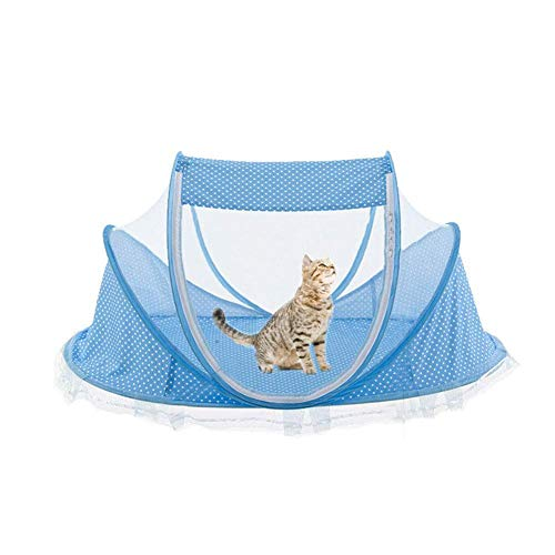 - Lothver Summer Cat Tent, Outdoor Small Dog Kennel,Cooling Mat, Breeding House Delivery Room for Pets