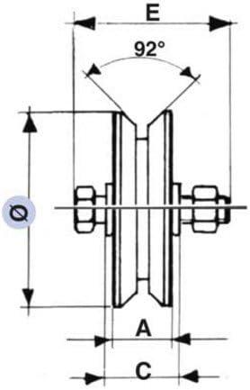 Ruote per cancelli RUOTE X CANC.2//CUSC.140X32 GOLA V