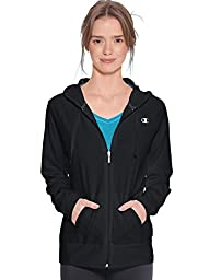 Champion Women\'s Jersey Jacket, Black, X-Large