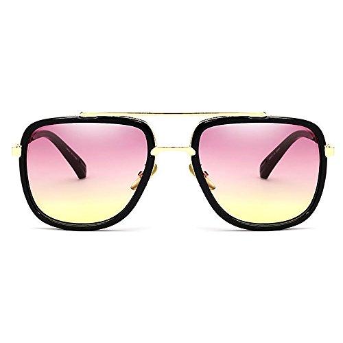 Hombre sol metal Vintage para y gafas SHEEN KELLY Rosa de Baratas Mujer Marco de YTSW7x
