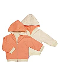 Babysoy Reversible Hoodie, Cantaloupe, 12-24 months, 1-Pack