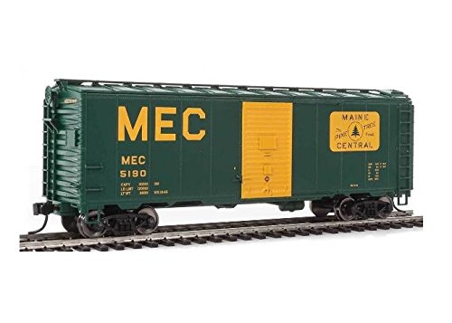 40' AAR MODIFIED 1937 BOXCAR - READY TO RUN -- MAINE CENTRAL 5190 (GREEN, YELLOW, LARGE MEC & THE PINE TREE ROUTE LOGO)