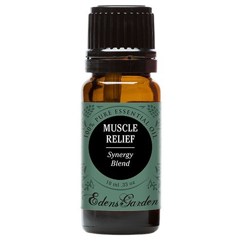 Muscle Relief Synergy Blend Essential Oil by Edens Garden- 10 ml (Clove, Helichrysum, Peppermint and Wintergreen) (Comparable to Young Living's PanAway blend)