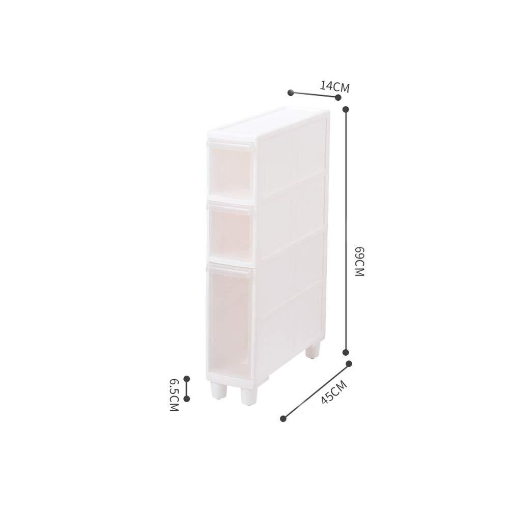CHenXin ホーム収納スリット収納ラックプラスチックトイレ収納ラック引き出し収納キャビネットバスルーム収納キャビネット、から選択するスタイルのバラエティ ^.^ (Size : C) B07TDKGZSN  C
