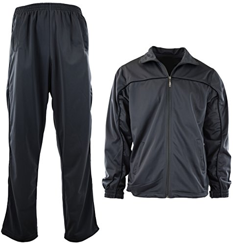 Mens Athletic 2 Piece Tracksuit Set (L, ()