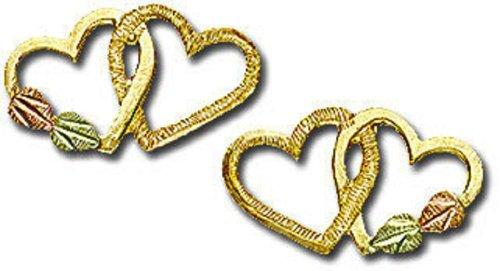 Landstroms 10k Black Hills Gold Heart Earrings - G - Hills Earrings Heart Black Gold