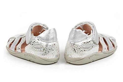 Gary Fong - Zapatos de cuero para bebé Plateado