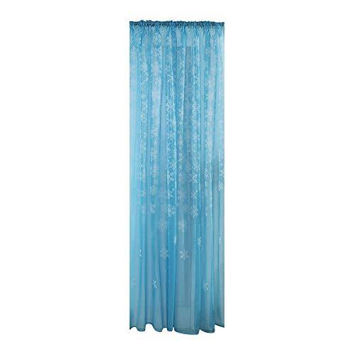 Lovewe Christmas Snowflake Window Curtains,1PCS Christmas Snowflake Curtain Tulle Window Treatment Voile Drape Valance (Sky Blue) ()