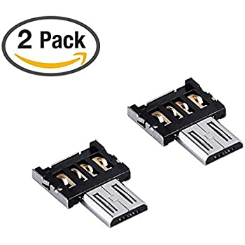Newkeen 2-Pack micro usb to usb otg adapter otg function Turn into Phone usb Flash Drive Mobile Phone Adapters (2-Pack OTG)