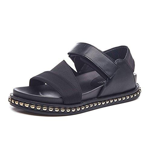 Velcro d'enfants cinq Thirty negro muffin trente plancher nine de occasionnel chaussures sandales aax8R
