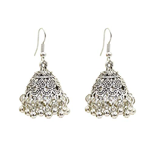 Kofun Earrings Sets, Tassel Earrings Dome Bell Rings Pendant Vintage Antique Women Jewelry Dangle Exquisite Carved Personality Gifts Party Wedding - Wedding Dangle Bell
