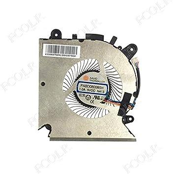 FCQLR enfriamiento Ventilador Compatible para MSI GF63 MS-16R1 MS ...