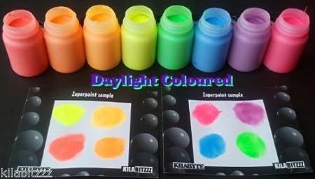 Cglowz Day fluorescente, fluorescente UV Glow in the Dark Paint–60ml RED Kilabitzzz