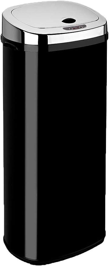 Dihl 50 L, rectangular Papelera con sensor color negro