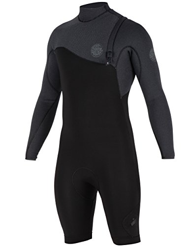 Rip Curl E Bomb Zip Free Entry 2/Long Sleeve Spring Wetsuit, Black/Black, -