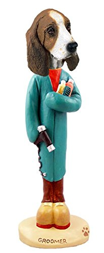 Basset Hound Groomer Doogie Collectable (Basset Figurine)