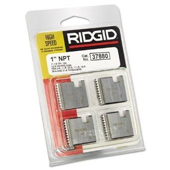 RIDGID 37880 Threading Die, 1-inch High-Speed Pipe Die for Manual Threaders Features 11-1/2 TPI and 12R NPT