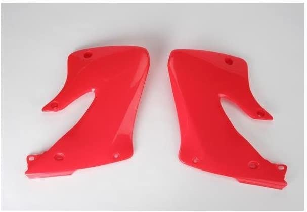 HO03601-067 UFO Plastics RAD SHR RD CR1 98-99 CR297-99 Body Plastics Radiator Covers RED honda cr250 97-98