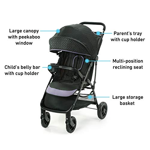 41UrhpXWytL - Graco NimbleLite Stroller | Lightweight Stroller, Under 15 Pounds, Car Seat Compatible, Compact Fold, Hailey