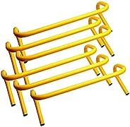 BlueDot Trading Speed Agility Soccer/Football/Basketball Training Hurdle Track (6 Set), Yellow, 9&