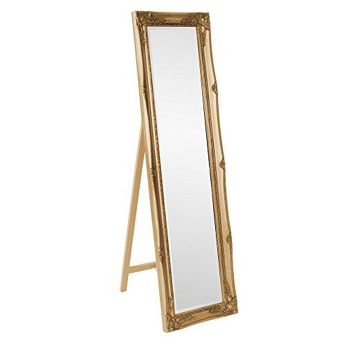Howard Elliott 57027 Queen Ann Mirror, Standing, Antique Gold Leaf (Mirror Length Full Gold)