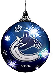 The Sports Vault LED Light UP Ball Ornament Vancouver Canucks, Team Colors