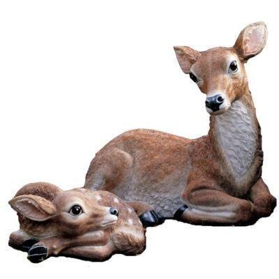 Doe Fawn Baby Deer Statue Home Garden Sculpture New
