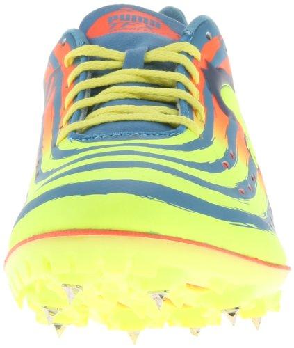 Puma Mens Tfx Sprint V4 Friidrotts Sko Metallic Blå / Fluorescerande Gul / Fluorescerande Persika