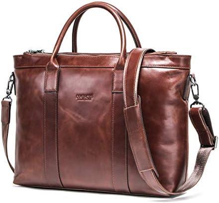 [コンタクトズ] Contacts 男性用 メッセンジャーバッグ レザー メンズ ショルダーバッグ 牛革 13インチMacBook対応 斜め掛けバッグ 大容量 カジュアルバッグ 鞄 手作り A4対応 バッグ