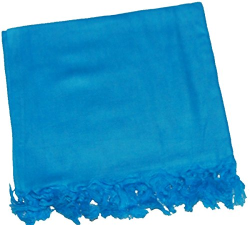 Women Solid Color Swimwear Sarong Pareo Beach Cover Ups (Turquoise)