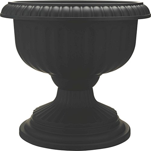 Grecian Urn, 18 Inches, Black (Large Outdoor Urns Planters)