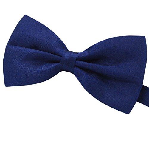 Amajiji Formal Dog Bow Ties for Medium & Large Dogs (D112 100% Polyester) (Deep Blue)